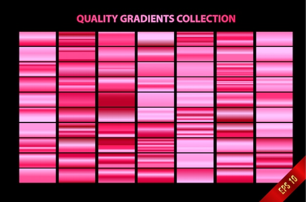 Modern quality gradients collection Premium Vector