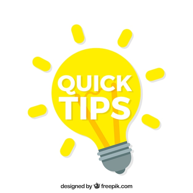 Modern quick tips composition with flat design Free Vector