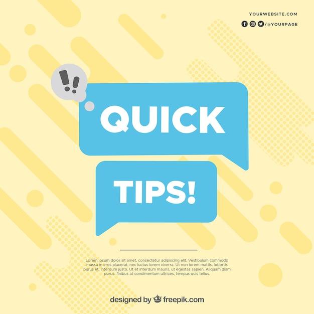 Modern quick tips concept Free Vector