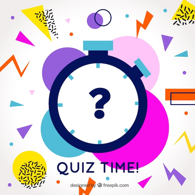 Modern quiz background with colorful shapes Free Vector