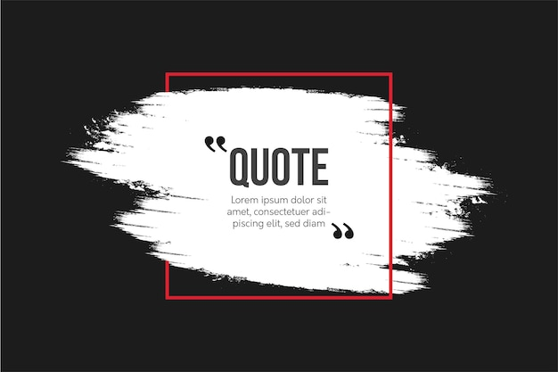 Современные цитаты общение с абстрактным фоном кисти Бесплатные векторы