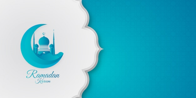 Modern ramadan kareem background Premium Vector