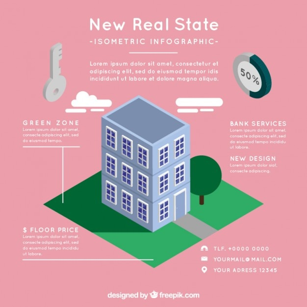 Modern real estate infographic