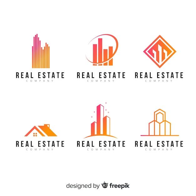 Modern real estate logo collectio Vector | Free Download