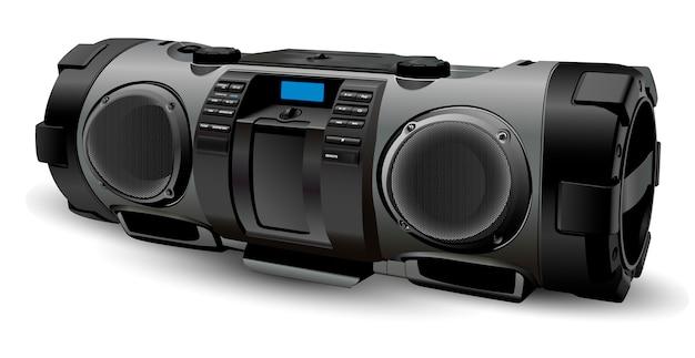 Modern realistic boombox mockup Premium Vector