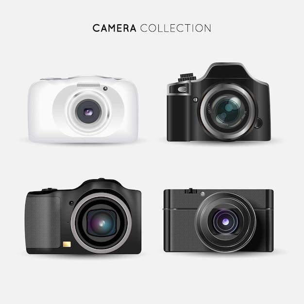 Modern realistic cameras collectio