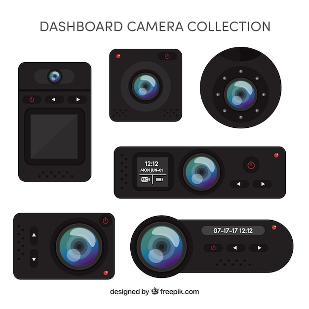 Modern realistic cameras collection