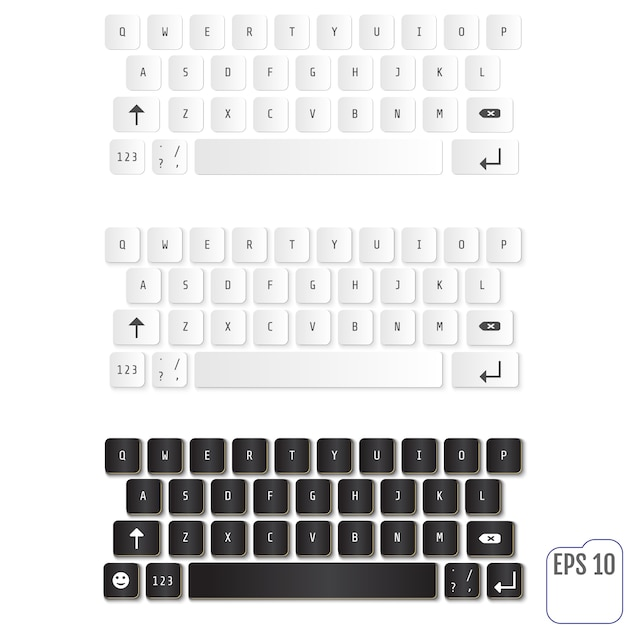 Modern realistic keyboards Premium Vector