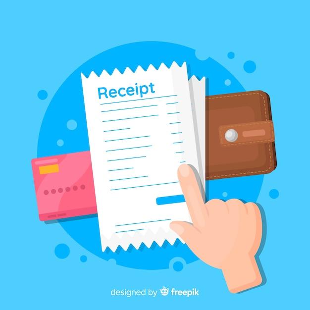 Modern receipt in flat style Free Vector