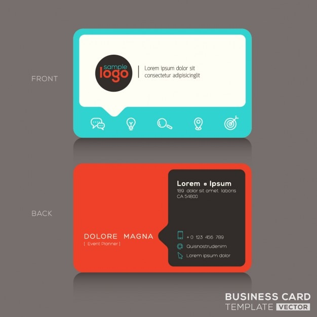 Modern red and blue business card vector free download modern red and blue business card free vector reheart Gallery
