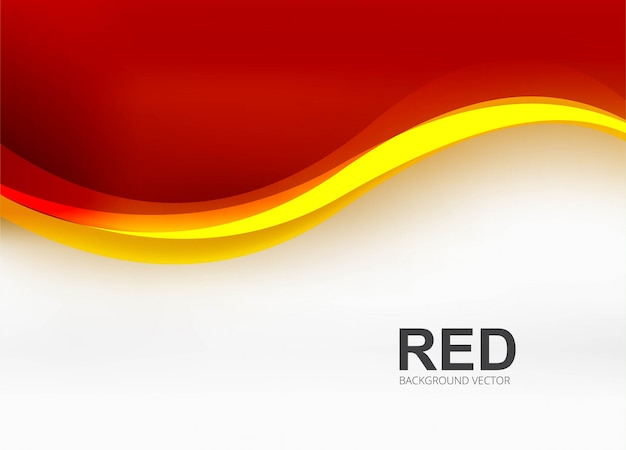 Modern red business wave background illustration Free Vector