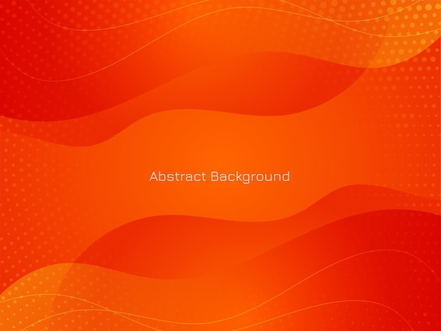 Modern red color wave style background vector Free Vector