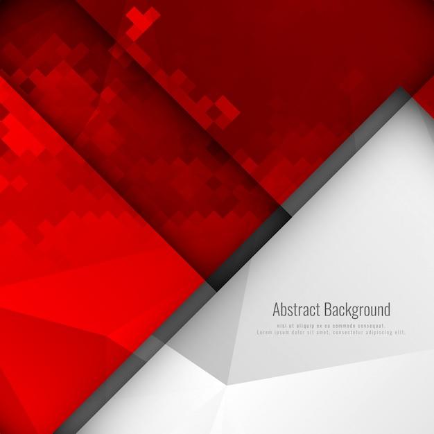 Sfondo astratto mosaico geometrico colore rosso Vettore gratuito