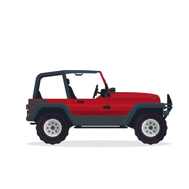 Modern Red Urban Adventure SUV Vehicle\ Illustration