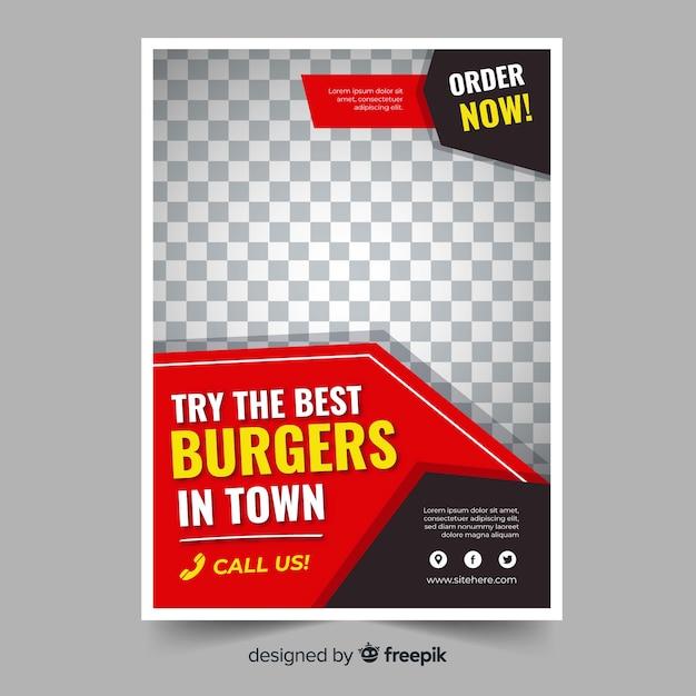 Modern restaurant flyer template Free Vector