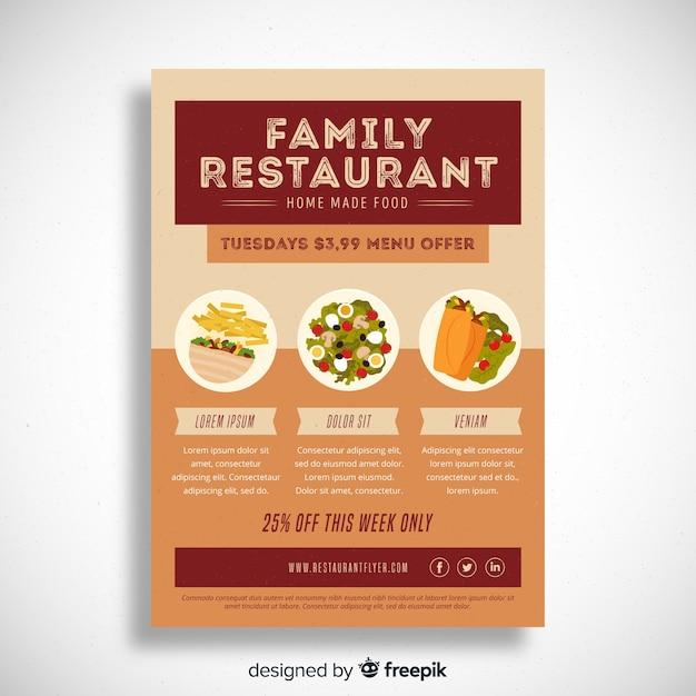 modern restaurant flyer template vector free download