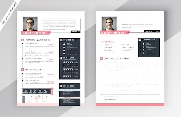 Modern resume cv template Premium Vector