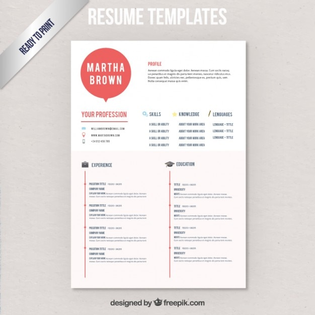 Free Download Modern Resume Template