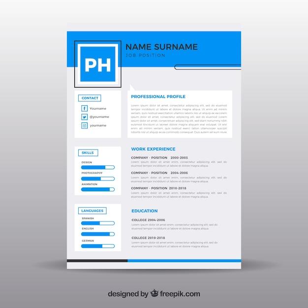 Modern resume template | Free Vector