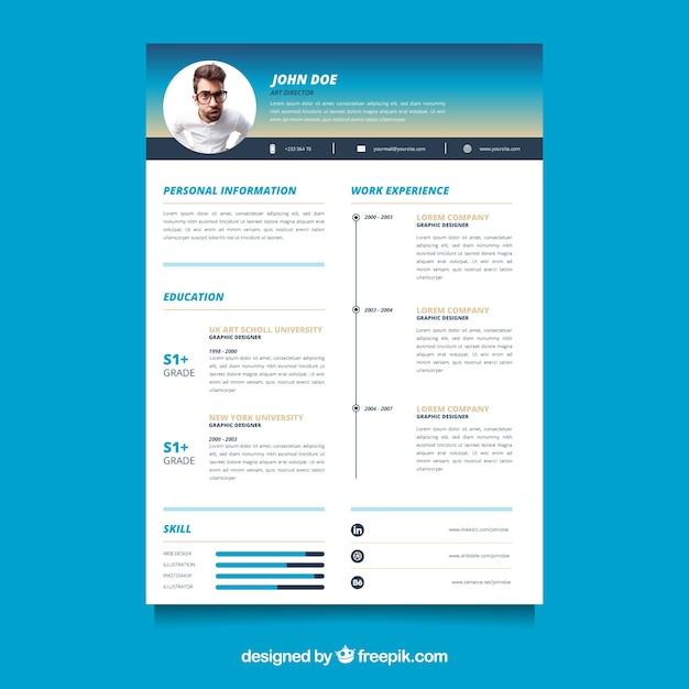 Free Vector | Modern resume template