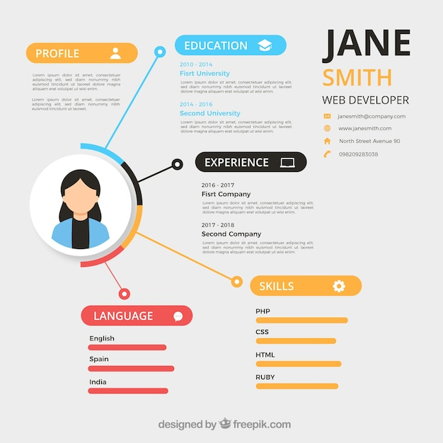 modern resume template vector