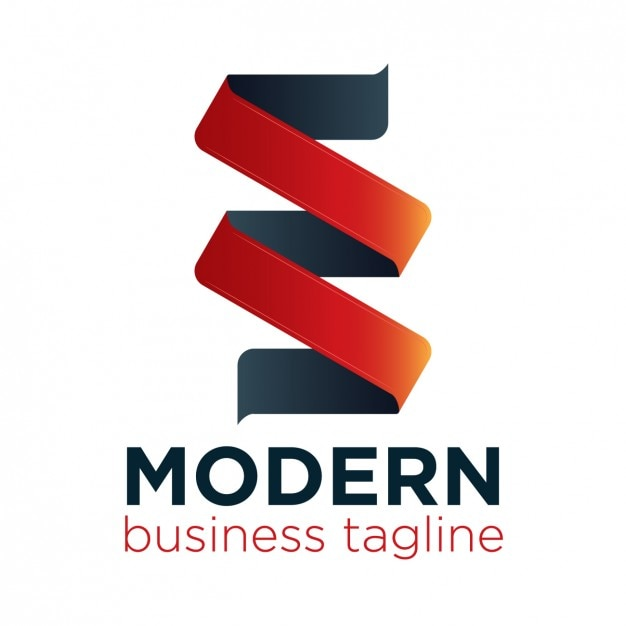 modern ribbon logo vector free download