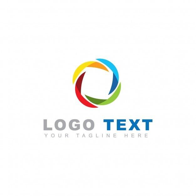 Modern round abstract logo