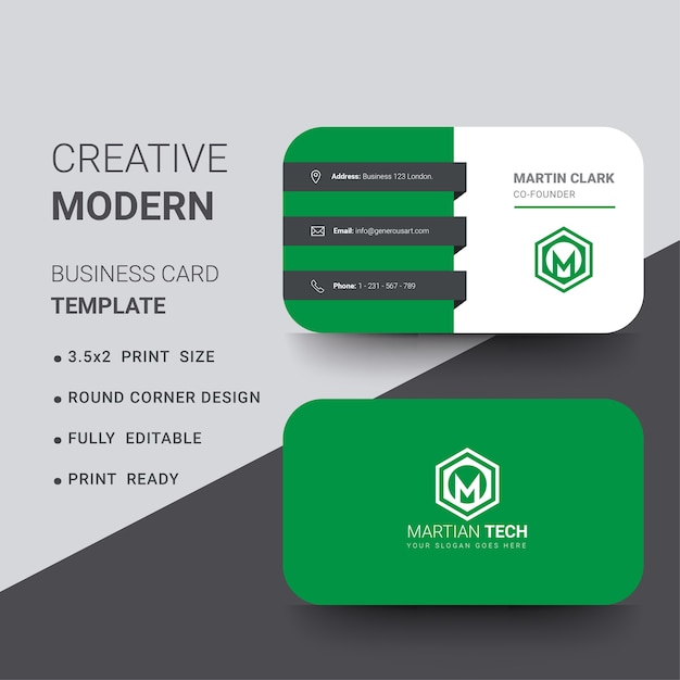 Modern round corner business card with blue details vector premium modern round corner business card with blue details premium vector accmission Choice Image