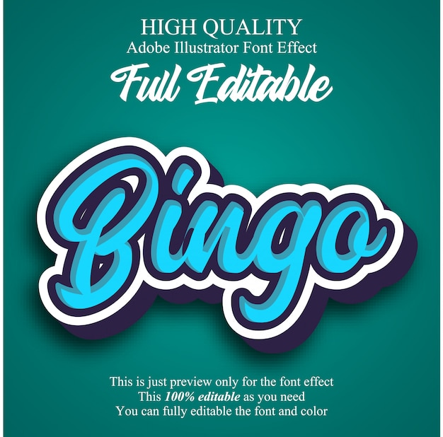 Modern rounded script editable typography font effect Premium Vector