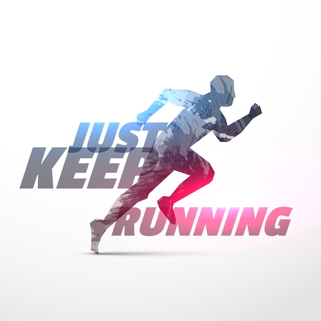 Modern running background Free Vector
