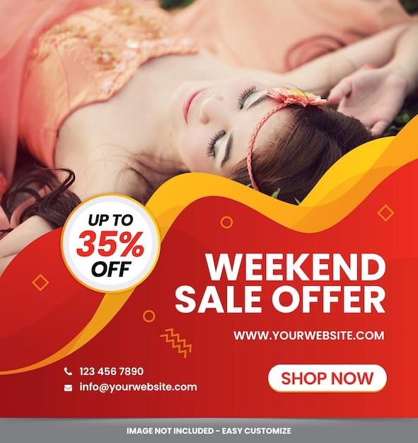 Modern sale banner ad set template Premium Vector