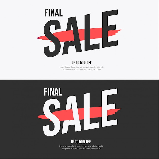 Modern sale banner collection Free Vector
