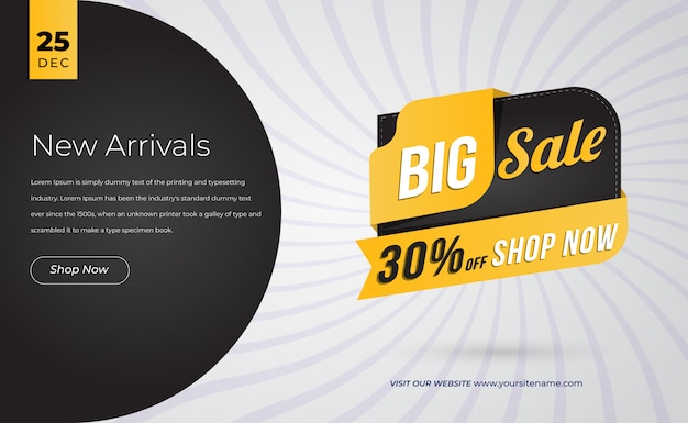 Webおよびソーシャルメディアのモダンな販売バナー Premiumベクター