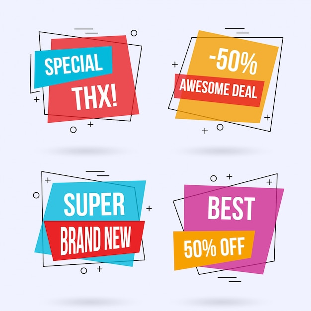 Modern sale banner templates Free Vector