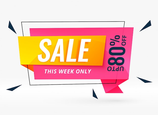 Modern sale banner for your business promotion Free Vector