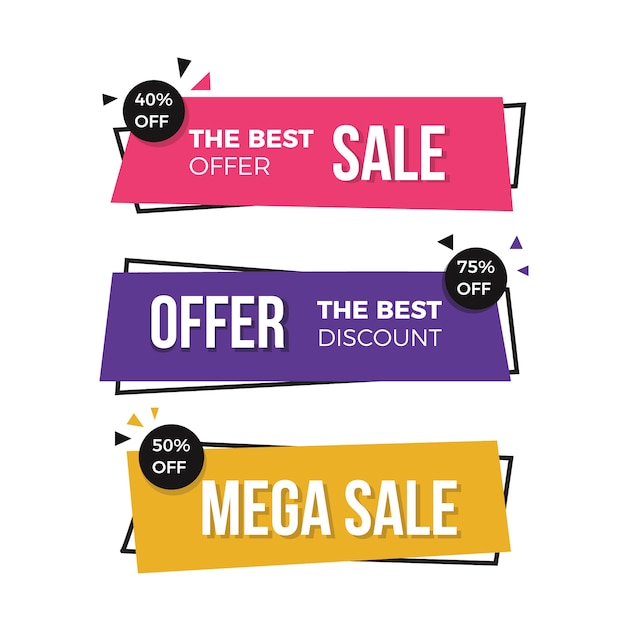 Modern sale banners Free Vector