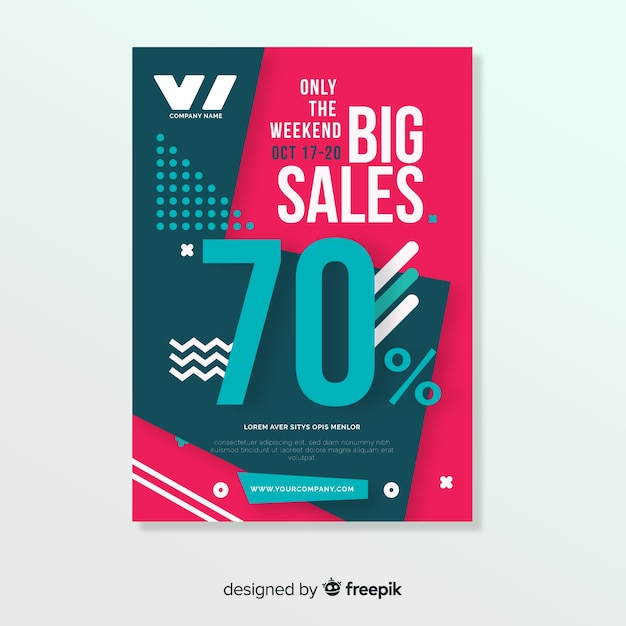 modern sale flyer template vector free download