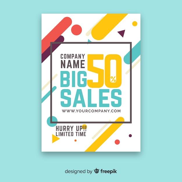 Modern sale flyer template Free Vector