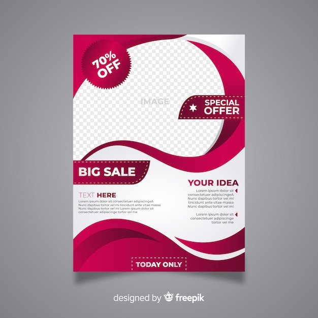 Modern sale flyer with abstract design Free Vector