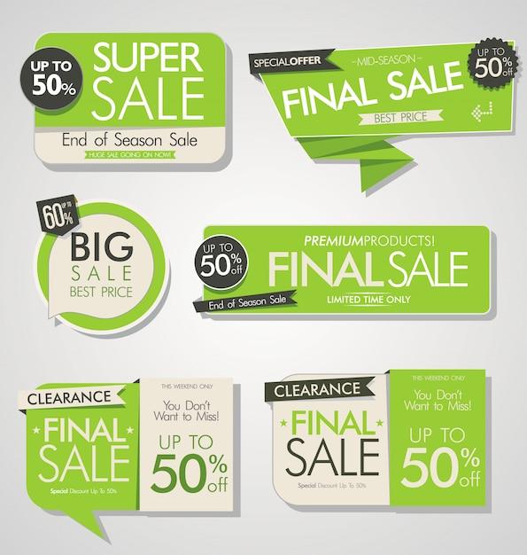 Modern sale stickers Premium Vector