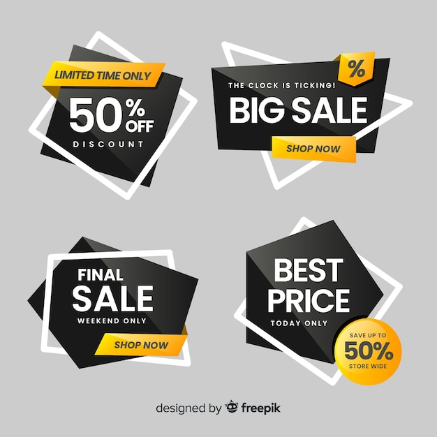 Modern sales banners for social media Vector | Free Download