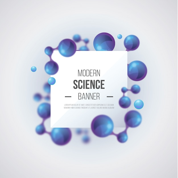 Modern science background Free Vector