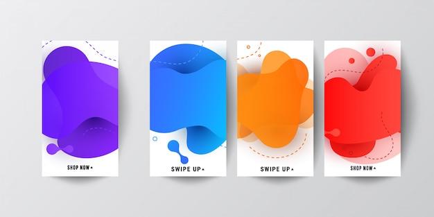 Modern screen color gradients Premium Vector