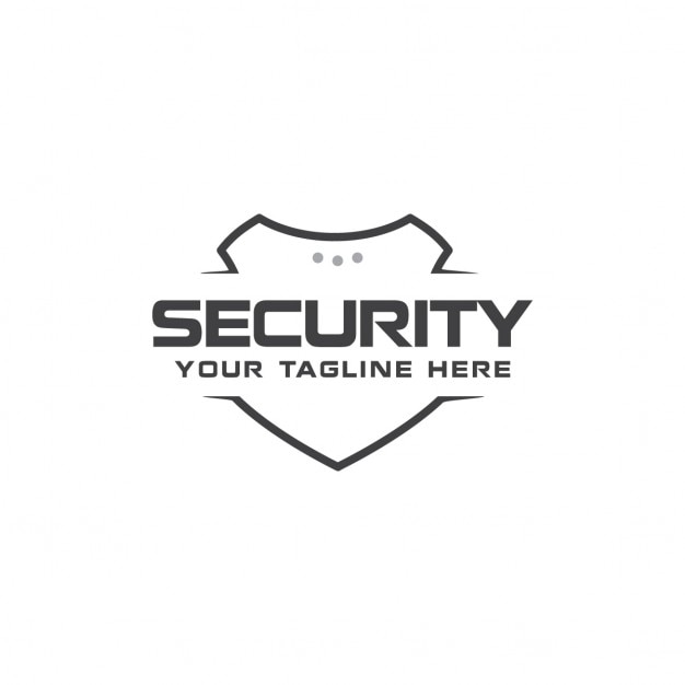 Modern security logo Free Vector