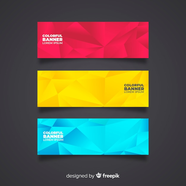 Modern Set Of Colorful Abstract Banners Vector Free Download