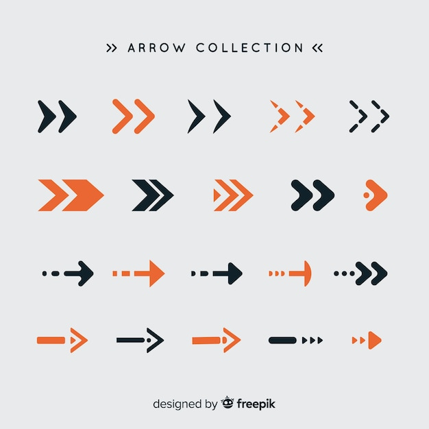 Modern set of colorful arrows with flat design Free Vector