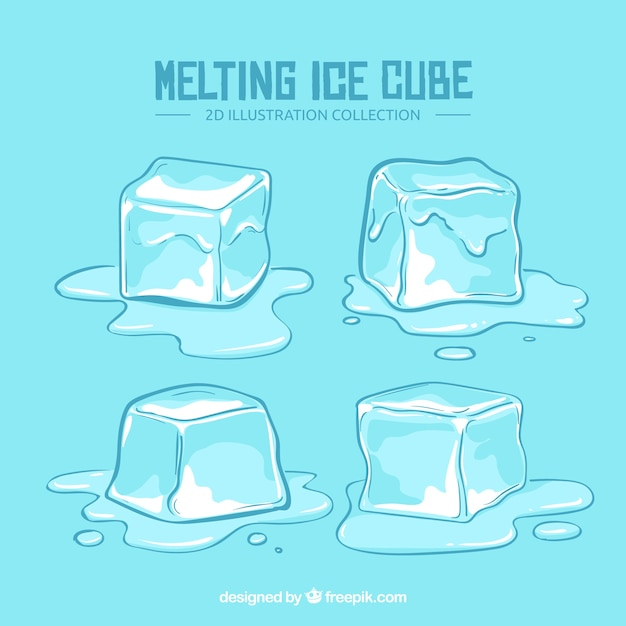 Modern Set Of Ice Cubes Vector Free Download