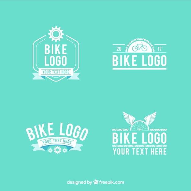 Modern set of bike logos