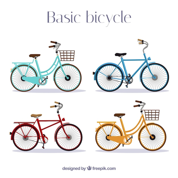 Modern set of cool bikes
