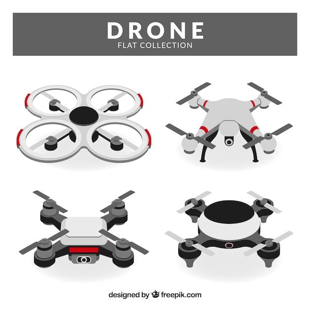Modern set of flat drones